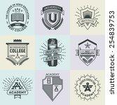 assorted retro design insignias ... | Shutterstock .eps vector #254839753