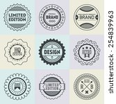 assorted retro design insignias ... | Shutterstock .eps vector #254839963