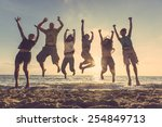 multiracial group of people... | Shutterstock . vector #254849713