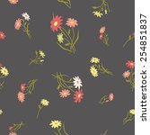 seamless pattern with retro... | Shutterstock .eps vector #254851837
