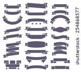 ribbons set   Shutterstock .eps vector #254868577