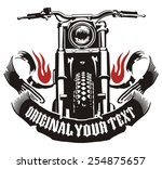 motorcycle ribbon flame | Shutterstock . vector #254875657