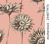 retro floral seamless pattern | Shutterstock .eps vector #254877973