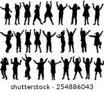 children silhouettes | Shutterstock .eps vector #254886043