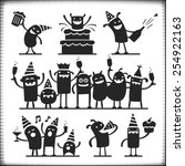 partying vector characters ... | Shutterstock .eps vector #254922163