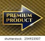 premium product gold arrow.   Shutterstock .eps vector #254923507