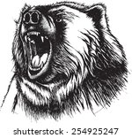 vector illustration of growling ... | Shutterstock .eps vector #254925247