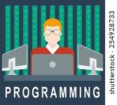 app development code... | Shutterstock .eps vector #254928733