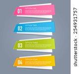 infographics template for... | Shutterstock .eps vector #254931757