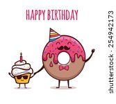 happy birthday | Shutterstock .eps vector #254942173