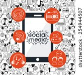social media design  vector... | Shutterstock .eps vector #254944507
