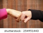 fist to fist | Shutterstock . vector #254951443