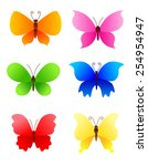 Cute Colorful Butterflies Icon...