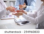 group of business people... | Shutterstock . vector #254960833