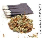 medical marijuana   white... | Shutterstock . vector #254966017
