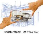 female hands framing custom... | Shutterstock . vector #254969467