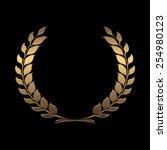 vector gold award wreaths ...   Shutterstock .eps vector #254980123