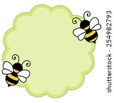 Cute Bees Flying Around Green...