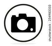 camera photo icon. vector | Shutterstock .eps vector #254983333