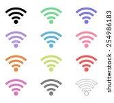 wifi icon | Shutterstock .eps vector #254986183