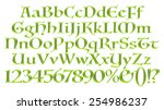 3d green alphabets big and... | Shutterstock . vector #254986237