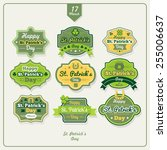 happy st. patrick's day labels... | Shutterstock .eps vector #255006637