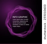 dark purple light abstract... | Shutterstock .eps vector #255010603