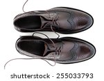 men's classic black leather... | Shutterstock . vector #255033793