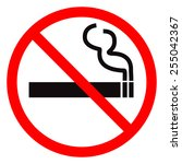 no smoking sign. | Shutterstock . vector #255042367