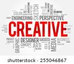 creative word cloud  business... | Shutterstock .eps vector #255046867