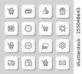 shopping cart web icons | Shutterstock .eps vector #255048643