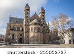 saint servatius church at the... | Shutterstock . vector #255053737
