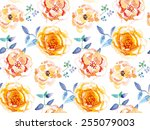 Orange Flowers With Blue Leave...