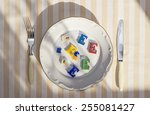 Plate With Unhealthy Foods Wit...