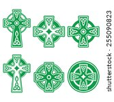 irish  scottish celtic green... | Shutterstock .eps vector #255090823