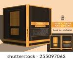 brown book cover design | Shutterstock .eps vector #255097063