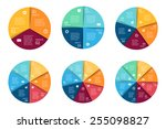 vector circle infographics set. ... | Shutterstock .eps vector #255098827
