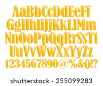 3d alphabets with numbers on... | Shutterstock . vector #255099283