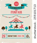 vintage poster with carnival ... | Shutterstock .eps vector #255101713