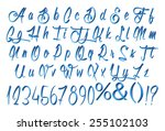 type letters and numbers 3d... | Shutterstock . vector #255102103