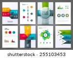set of brochure design... | Shutterstock .eps vector #255103453