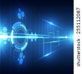 vector abstract future... | Shutterstock .eps vector #255112087