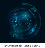 futuristic technology hud... | Shutterstock .eps vector #255141547