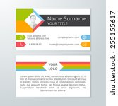 modern light business card...