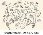 Doodle Sport. Vector...