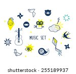 icons set vector illustration... | Shutterstock .eps vector #255189937