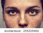 Eyes Nose Woman Portrait With...