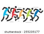 running race  stylized vector... | Shutterstock .eps vector #255235177