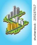 city landscape | Shutterstock .eps vector #255237517