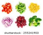 heaps of different cut... | Shutterstock . vector #255241903